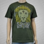 Sleeping With Sirens Lion Crest Olive Green T-Shirt