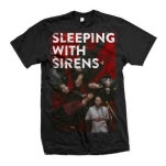 Sleeping With Sirens Red Carpet Black T-Shirt