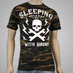 Sleeping With Sirens Skull Camo T-Shirt