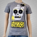 Sleeping With Sirens Skull Heather Gray T-Shirt