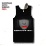 Sleeping With Sirens Sealed Lips Black Tank Top