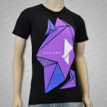 Soulero Poly Purple Black T-Shirt