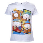 South Park Painted Characters White Mens T-Shirt