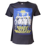 Space Invaders Astronauts Black Shirt T-Shirt