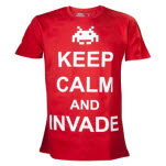 Space Invaders Red Keep Calm And Invade T-Shirt