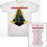 Sparks The Rescue Christmas Brings Me Down Tour White T-Shirt
