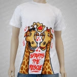 Sparks The Rescue Giraffes White T-Shirt