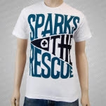Sparks The Rescue Slanted Logo White T-Shirt