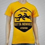 Squared Circle Clothing Outta Nowhere Yellow T-Shirt
