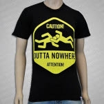 Squared Circle Clothing Outta Nowhere Black T-Shirt
