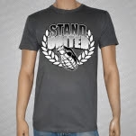 Stand United Grenade Charcoal Gray T-Shirt