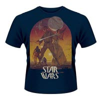 Star Wars Sunset Poster Blue T-Shirt