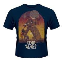Star Wars Sunset Poster Blue T-Shirt