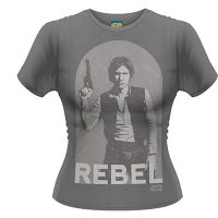 Star Wars Han Rebel Girlie T-Shirt