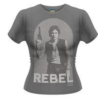 Star Wars Han Rebel Girlie T-Shirt