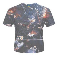 Star Wars Huge Space Battle Dye Sub T-Shirt