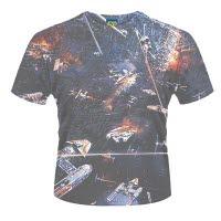 Star Wars Huge Space Battle Dye Sub T-Shirt