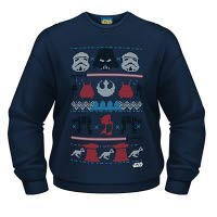 Star Wars Dark Side Fair Isle Crew Neck Sweat-Shirt