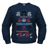 Star Wars Dark Side Fair Isle Crew Neck Sweat-Shirt