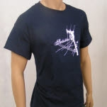 Statistics Pole Navy Blue T-Shirt