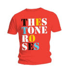 Stone Roses Font Logo Red T-Shirt