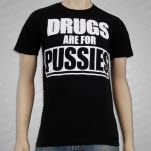 Straight Edge Drugs Are For Pussies Black T-Shirt