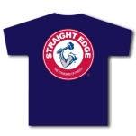 Straight Edge Hammer Navy Blue T-Shirt