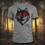Strangers To Wolves Wolf Heather Grey T-Shirt