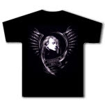 Straylight Run Girl Wings Black T-Shirt