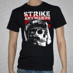 Strike Anywhere Helmet Skull Black T-Shirt