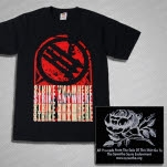 Strike Anywhere Stacked Black T-Shirt