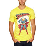 Superman Yellow Pose T-Shirt