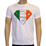 Superman Irish Flag Logo T-Shirt