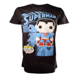 Superman Graphic Art Black T-Shirt