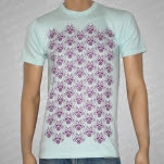 Swimming With Dolphins Pattern Sea Foam Green T-Shirt