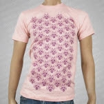 Swimming With Dolphins Pattern Coral Pink T-Shirt