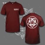 Sworn In Flower Pentagram Maroon T-Shirt
