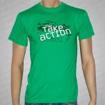 Take Action Protest Green T-Shirt