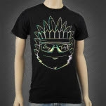 Tasty Network Aurora Indian Black T-Shirt