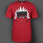 Tasty Network BlackWhite Indian Red T-Shirt