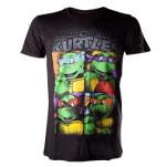 Teenage Mutant Ninja Turtles Retro Tmnt Bright Graffiti Black T-Shirt