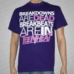 Teen Heat Breakdowns Are Dead Purple T-Shirt