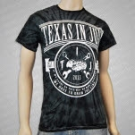 Texas In July Draw The Line Black Tie Dye T-Shirt