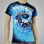 Texas In July Draw The Line Blue Tie Dye T-Shirt