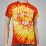 Texas In July Draw The Line RedOrange Tie Dye T-Shirt