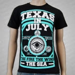 Texas In July The Fire The Wind The Sea Black T-Shirt