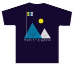 Texas Is The Reason Mountain Navy T-Shirt