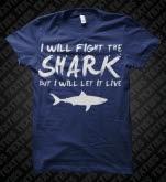 Texties Shark Fighter Navy T-Shirt