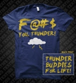 Texties Thunder Buddies Navy T-Shirt