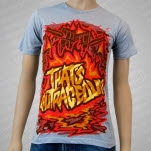 Thats Outrageous City On Fire Silver T-Shirt